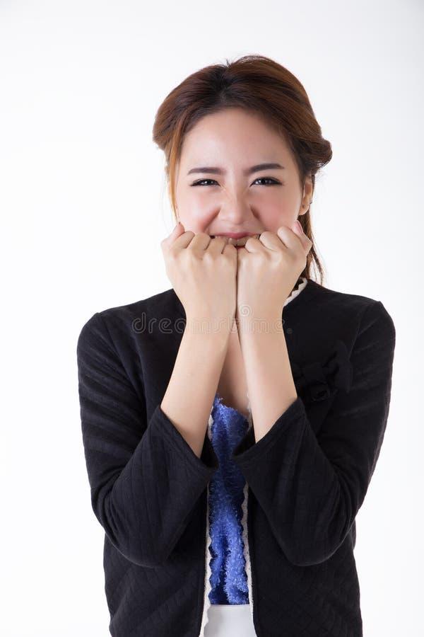 Retrato tailand?s ativo asi?tico do retrato woman fotos de stock