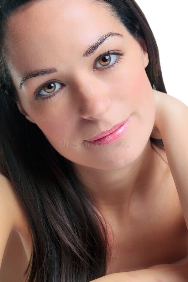 Retrato triguenho da mulher imagens de stock royalty free