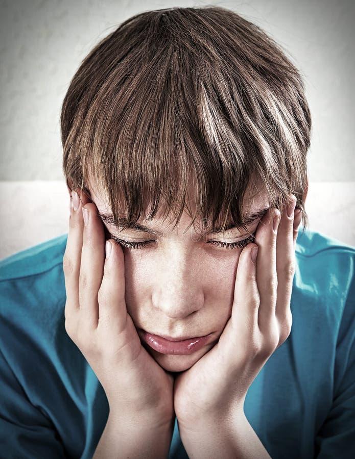 Retrato triste do adolescente fotos de stock