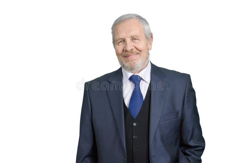 Retrato velho do homem de negócios imagens de stock royalty free