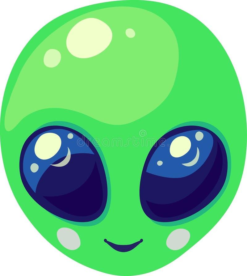 Retrato verde de sorriso bonito da cara do estrangeiro de espaço fotos de stock royalty free