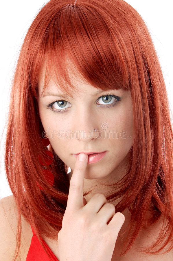 Retrato vermelho do cabelo imagem de stock royalty free
