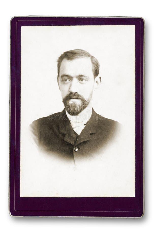 Retrato viejo de un hombre foto de archivo