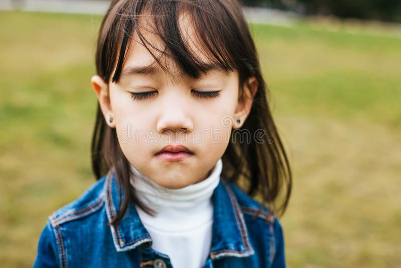 retratos da menina asiática foto de stock royalty free