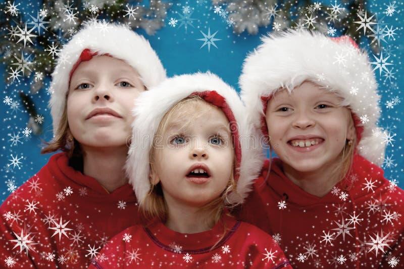 Retratos de la Navidad imagenes de archivo