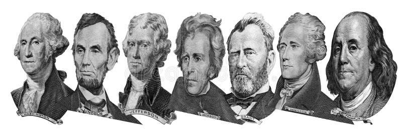 Retratos de presidentes y de pol?ticos de d?lares fotos de archivo