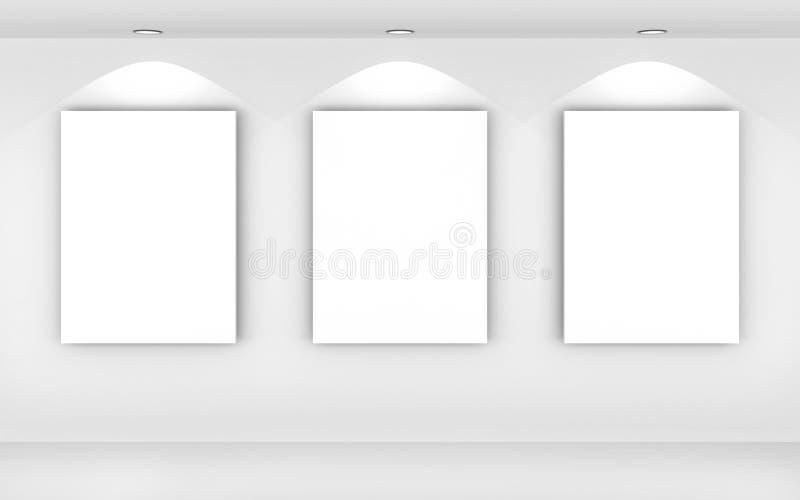 Retratos de um espaço em branco ilustração stock