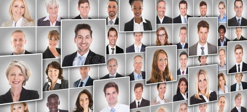 Retratos dos empresários foto de stock royalty free