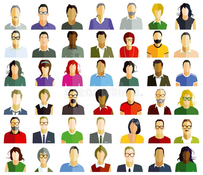 Retratos dos povos ilustração royalty free
