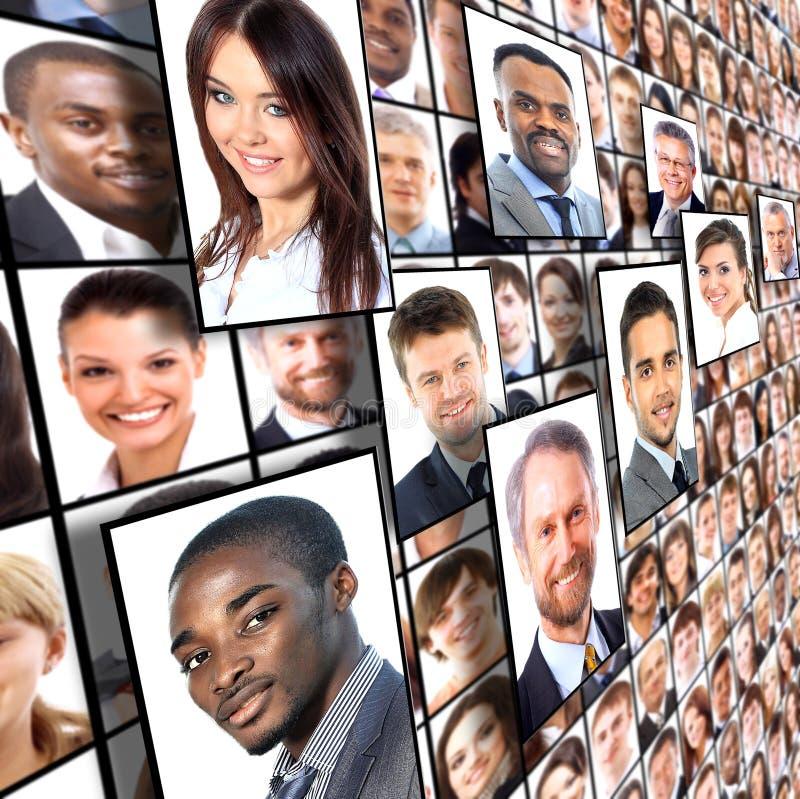 Retratos dos povos imagem de stock royalty free