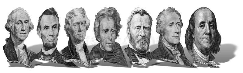 Retratos dos presidentes e dos pol?ticos dos d?lares imagem de stock