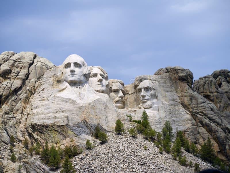 Retratos dos presidentes na rocha imagens de stock royalty free
