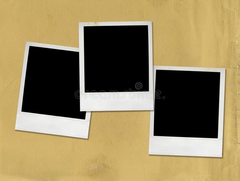 Retratos em branco do Polaroid imagem de stock