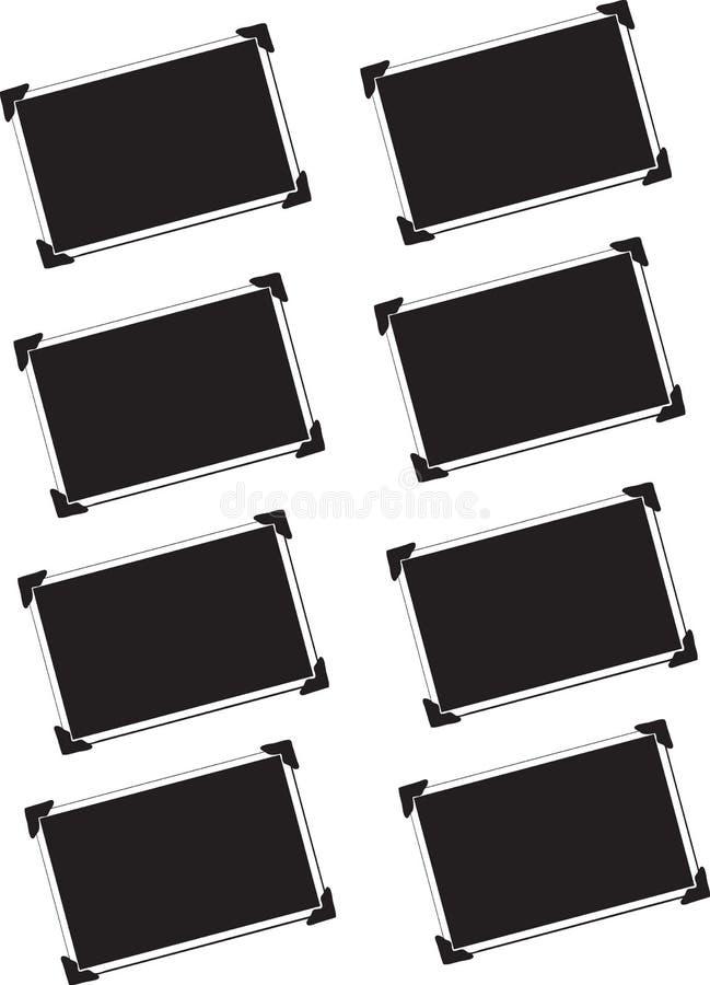 Retratos em branco isolados ilustração do vetor