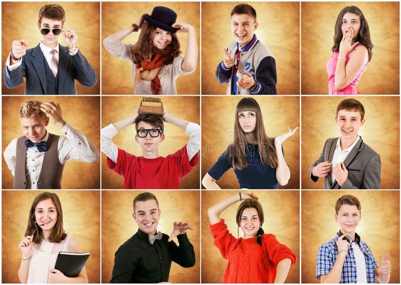 Retratos emocionales de la gente joven fotografía de archivo libre de regalías