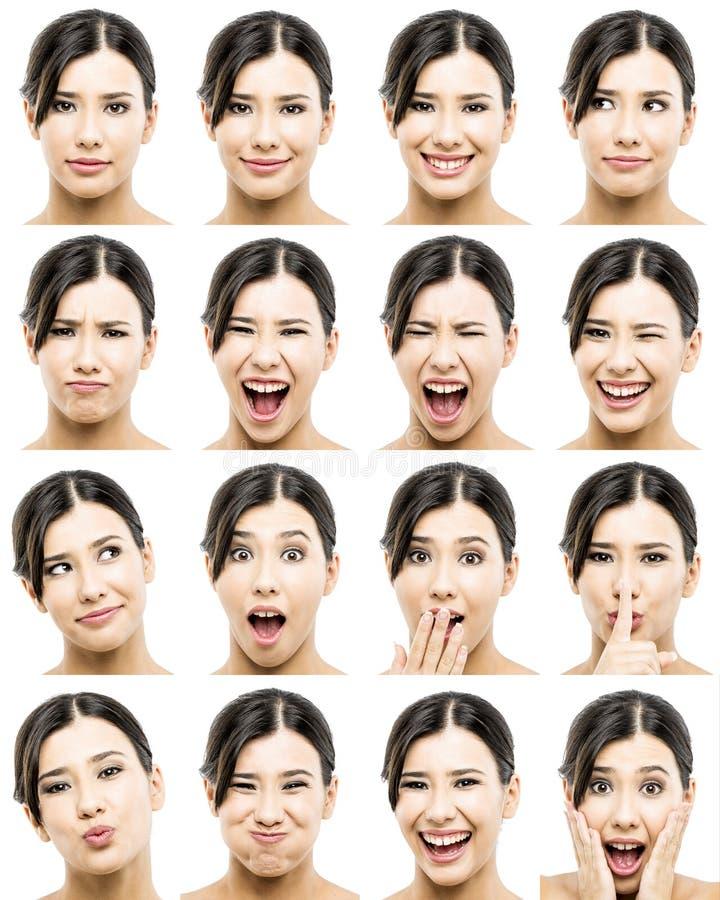 Expressões diferentes foto de stock royalty free