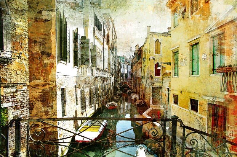 Retratos Venetian ilustração royalty free