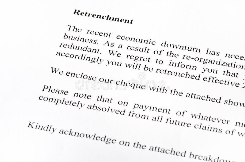Retrenchment letter stock image image of retrenchment 16734045 retrenchment letter altavistaventures Gallery
