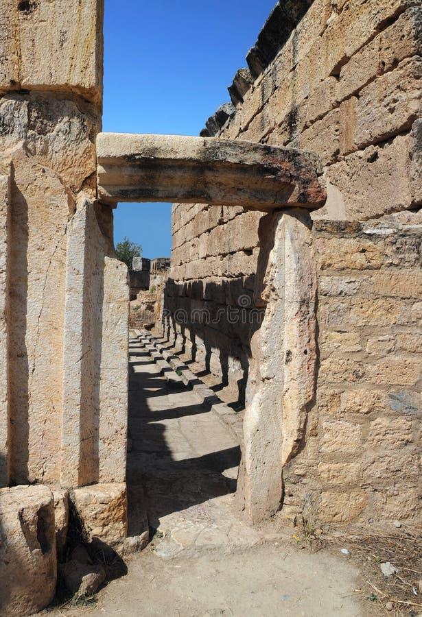 Retrete de Hierapolis antiguo foto de archivo libre de regalías