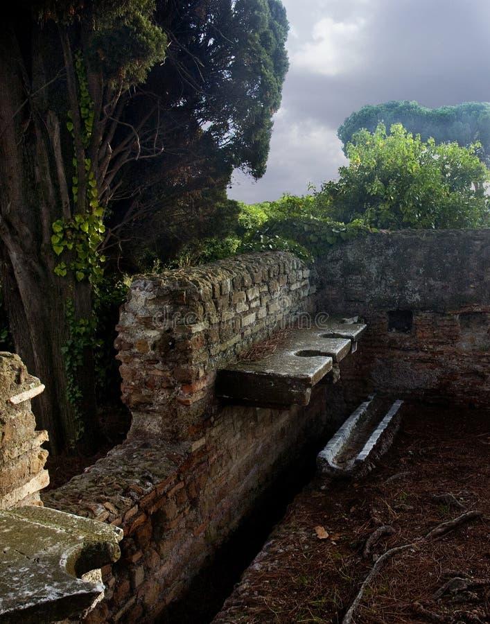 Retrete público romano fotografía de archivo libre de regalías