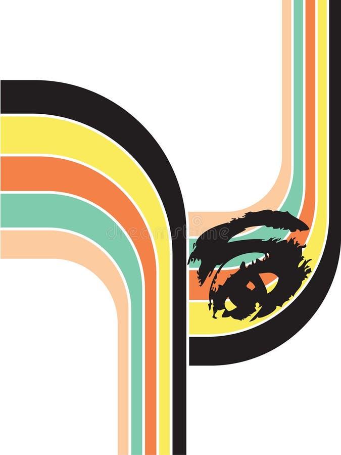 retro ögonregnbåge royaltyfri illustrationer