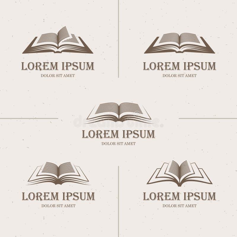 Retro öppna böcker vektor illustrationer