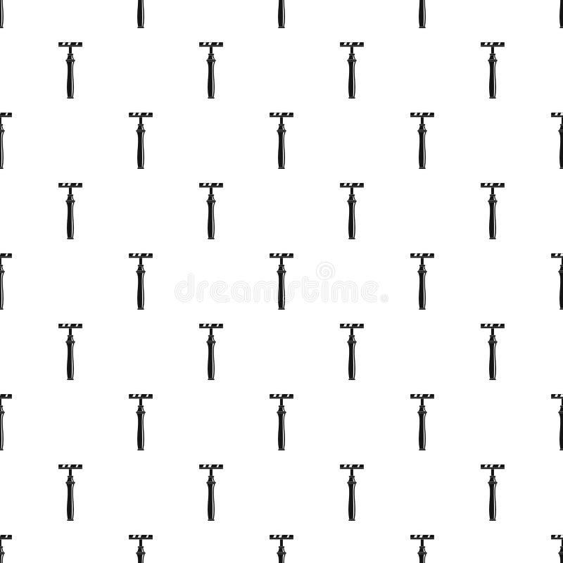 Retro żyletka wzoru bezszwowy wektor ilustracja wektor