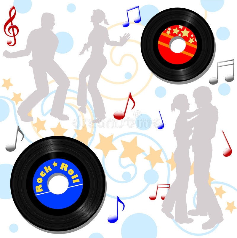 Download Retro 45 RPM Disco Record Hop Stock Vector - Image: 2768112
