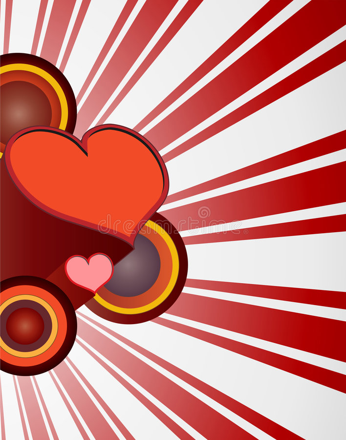 Free Retro 70 S Valentine Heart Royalty Free Stock Images - 8037099