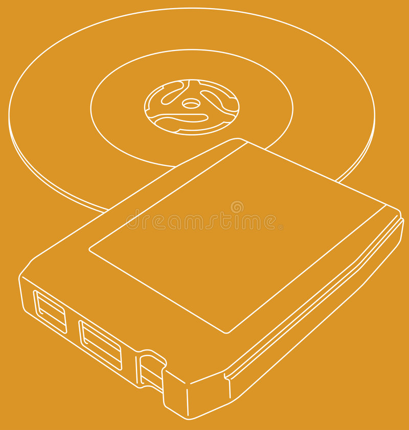 Download Retro 8-track Tape And 45 Single Stock Vector - Image: 8322479