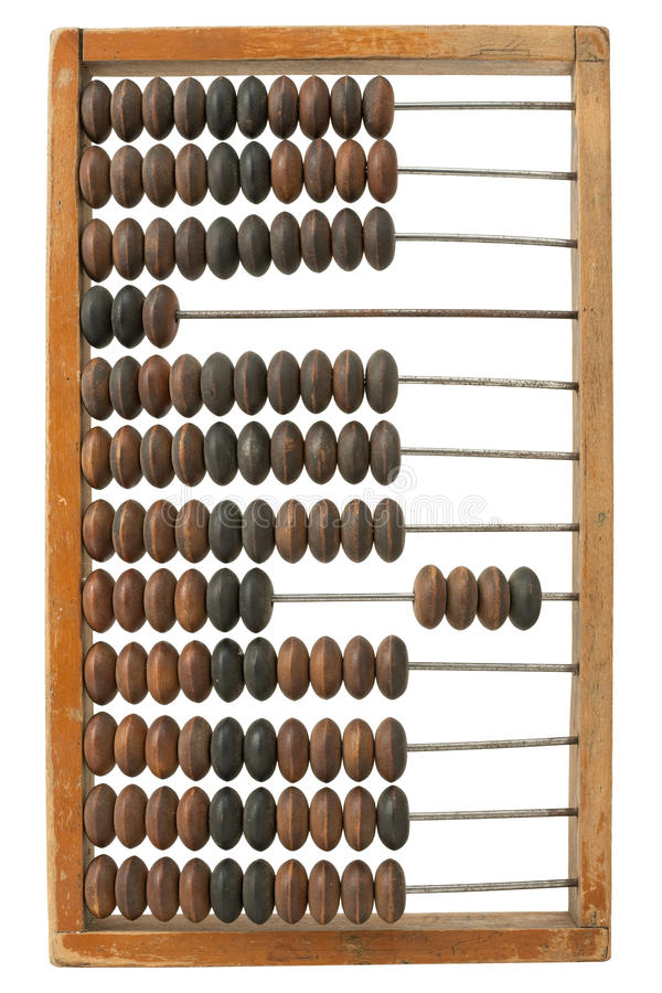 Retro abacus royalty free stock images