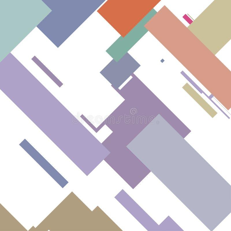 Retro abstract background. Geometric shapes illustration vector illustration