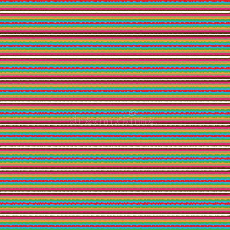 Retro Abstract Colorful Stripe Lines Scribble Ethnic Native Background Pattern. Colorful Stylish Retro Abstract Black Stripes Lines Modern Unique Fabric Fashion vector illustration