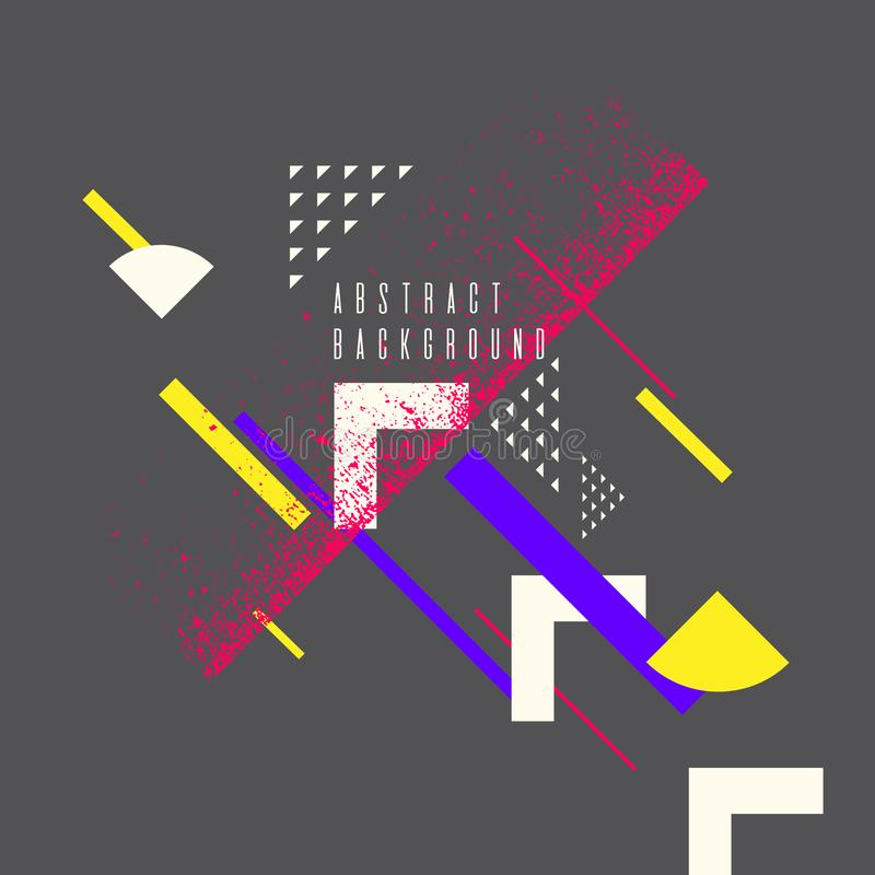 Retro abstract geometric background. The poster with the flat figures. vector illustration