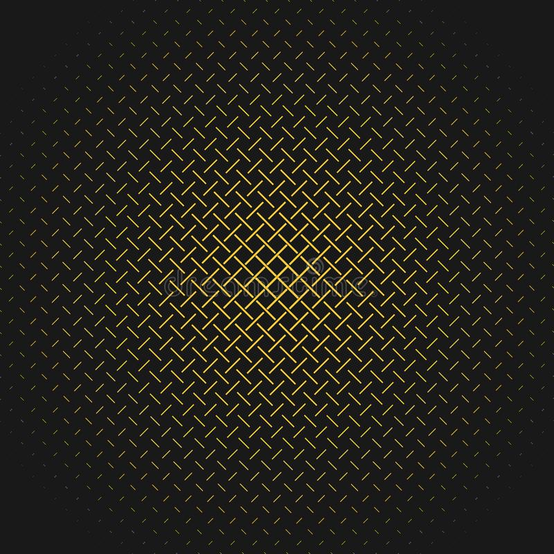 Retro abstract halftone pattern background from short stripes stock illustration