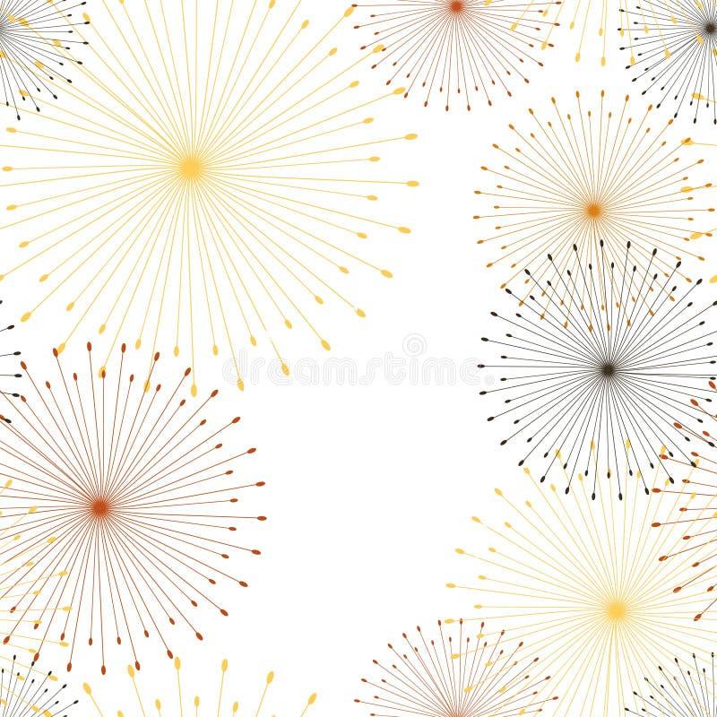 Retro abstract naadloos patroon met paardebloem naadloos op witte achtergrond Bloemen naadloos patroon royalty-vrije illustratie