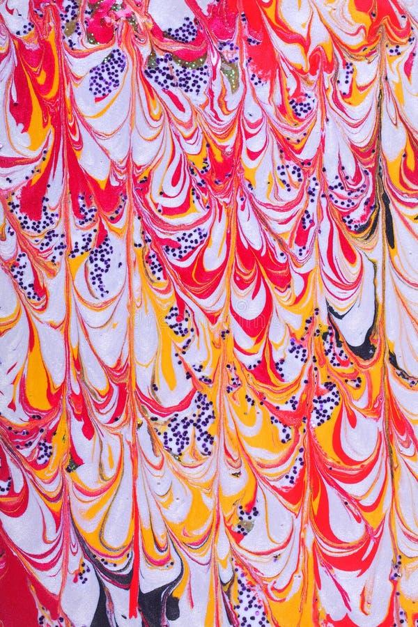 Retro abstract verfontwerp royalty-vrije stock afbeelding