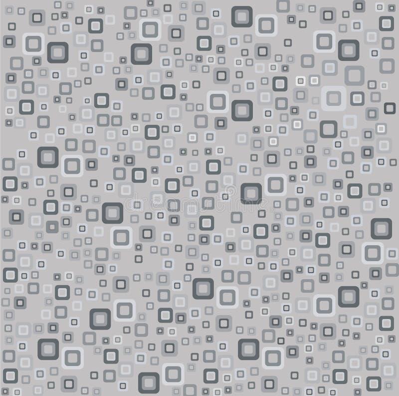 Retro abstracte grijze achtergrond met vierkanten vector illustratie