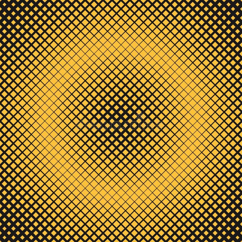 Retro abstracte halftone vierkante patroonachtergrond met diagonale vierkanten vector illustratie