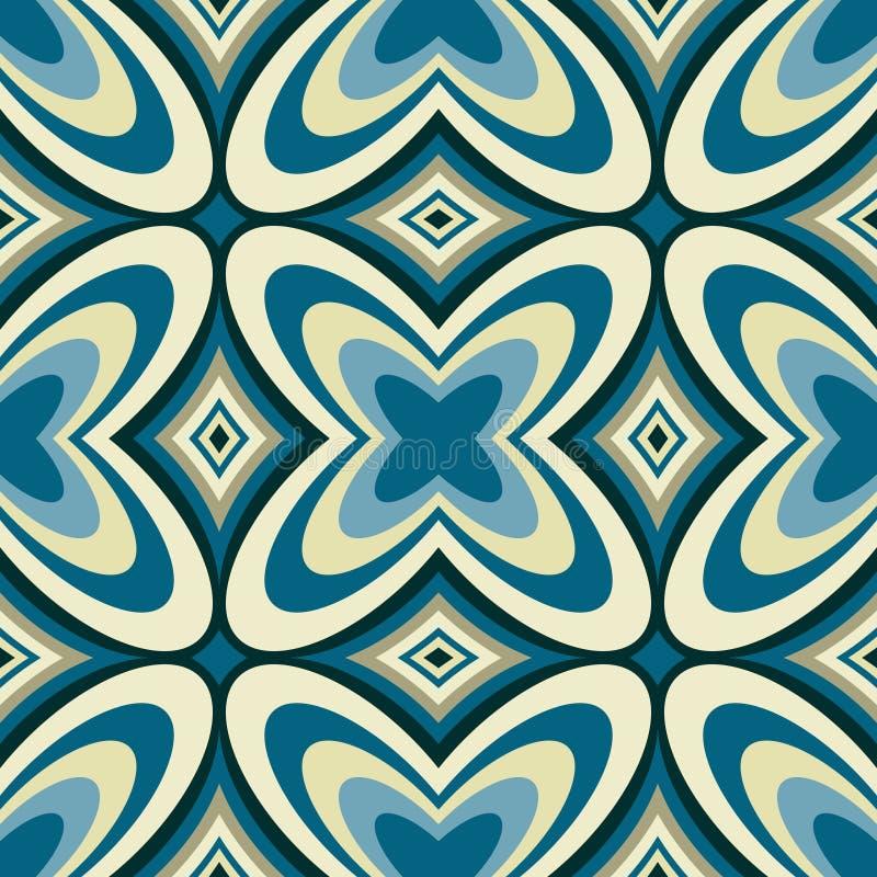 Retro Abstracte Naadloze Patroon van het Behang stock illustratie