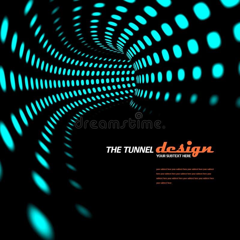 Retro abstracte tunnelachtergrond stock illustratie