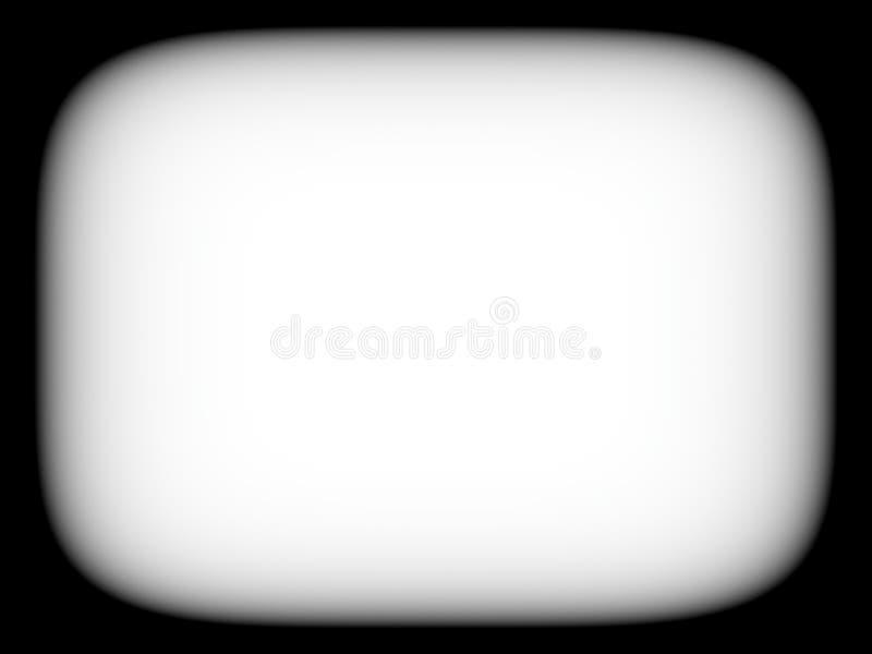 Retro abstracti in bianco e nero vuoto in bianco orizzontale dello schermo della TV fotografia stock libera da diritti