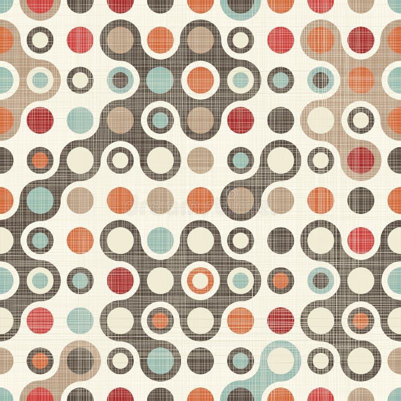 Retro abstrakcjonistyczny kolorowy bezszwowy wzór ilustracja wektor