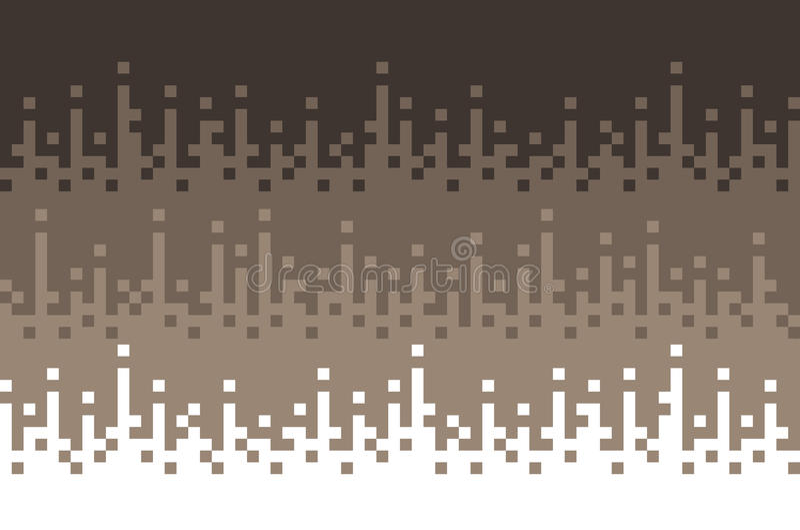 Retro, abstrakcjonistyczny kwadratowych bloków tło, piksla tło, brown kolor 10 tło projekta eps techniki wektor royalty ilustracja