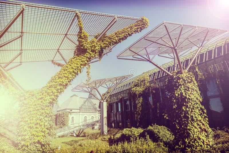 Retro abstrakt bakgrund för tappning, begrepp av naturen och industr arkivfoton