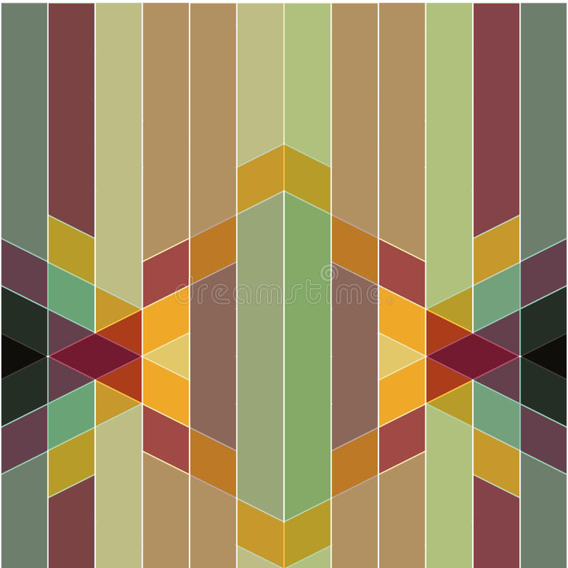 Retro abstrakt färgrik geometrisk modell för vektor och art décost stock illustrationer