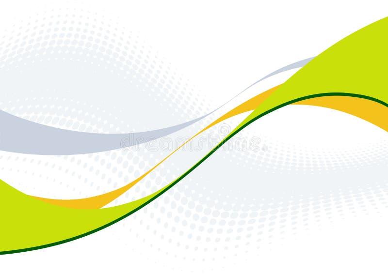 Retro- abstrakte Welle stock abbildung