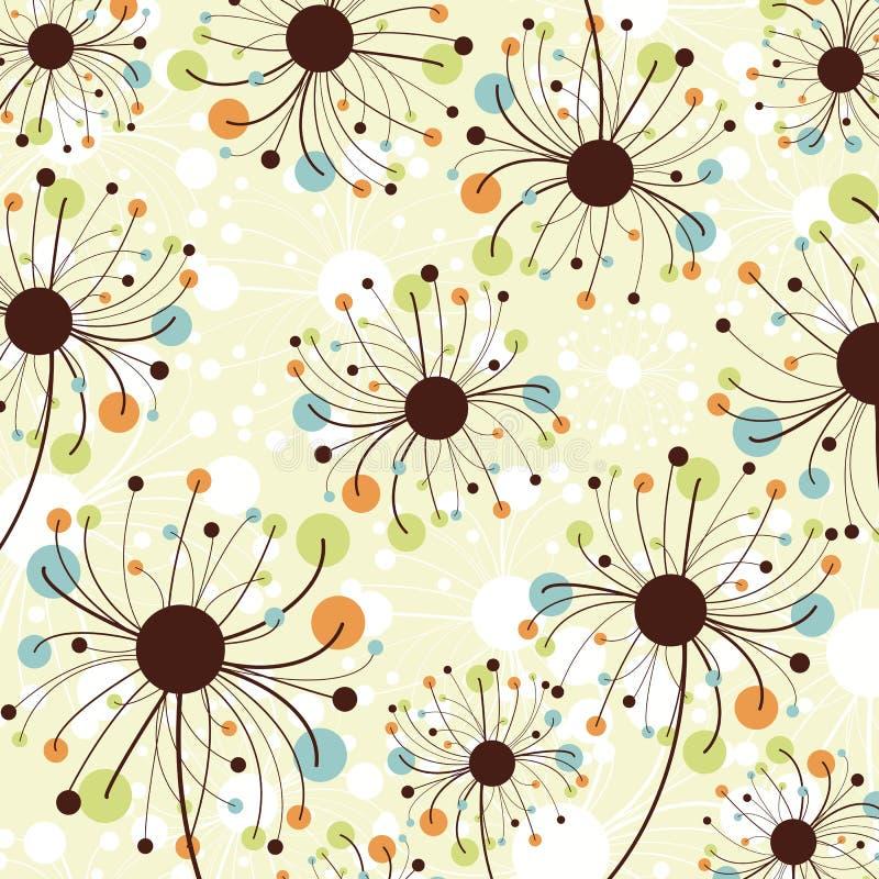 Retro- abstrakter Blumenhintergrund. stock abbildung