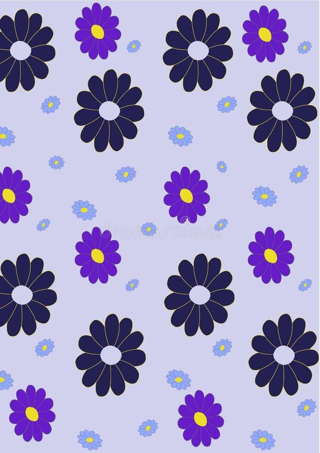 Retro- abstraktes Blumenmuster vektor abbildung