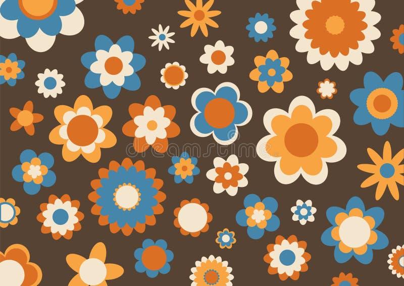 Retro- abstraktes Muster stock abbildung
